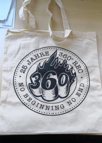 """Jute Tasche - 360° """"25 Jahre """""""