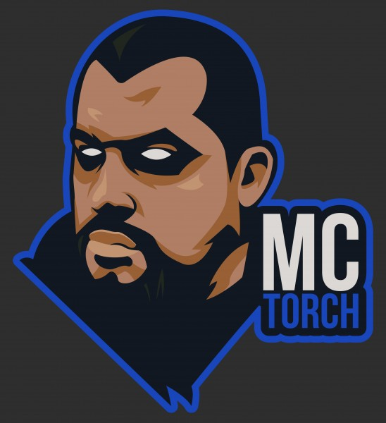 T-Shirt Torch Icon Black
