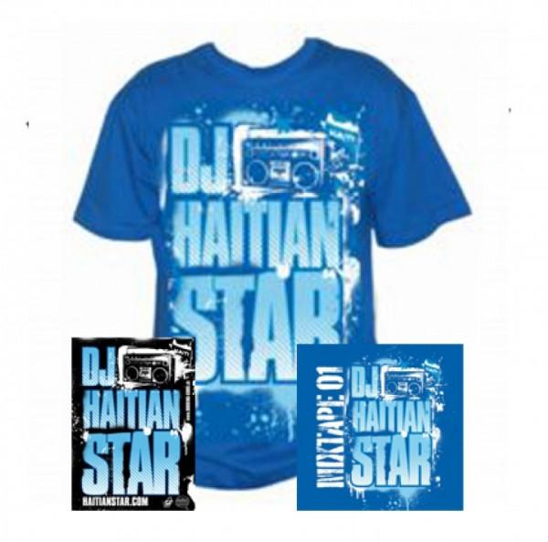 T-Shirt - Haitian Star Blau (Bundle)